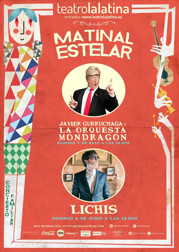 Lichis-&-Gurru_A3_pegada_carteles_mondo_sonoro_matinal_estelar_teatro_la_latina