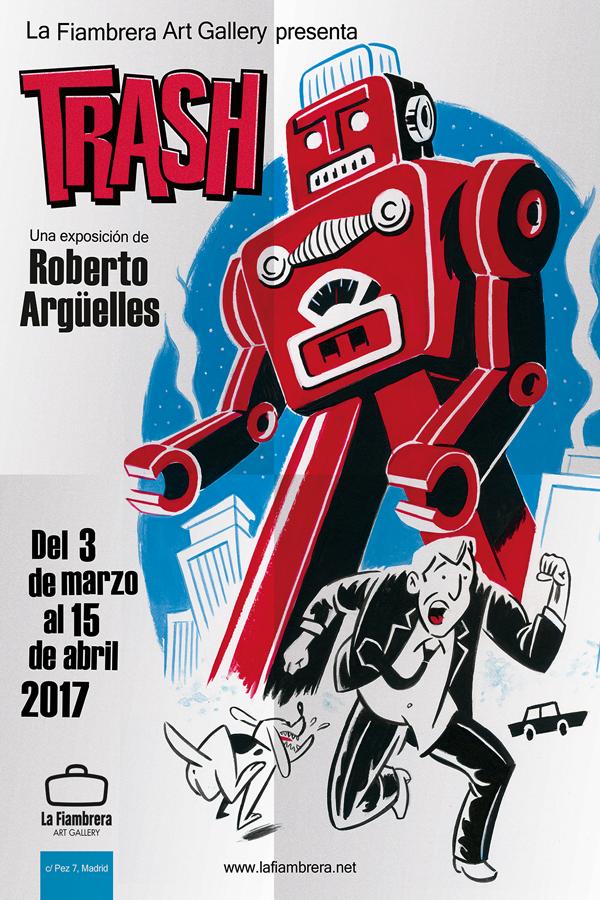 la fiambrera_ reparto de flyers_ Roberto arguelles_ pegada carteles_trash